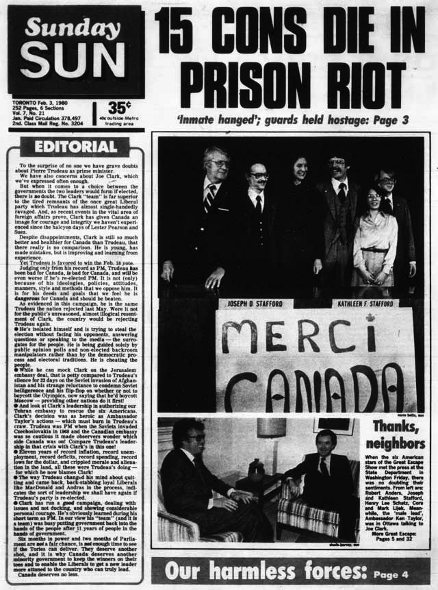The Toronto Sun adopts its first condensed gothic, 1980.