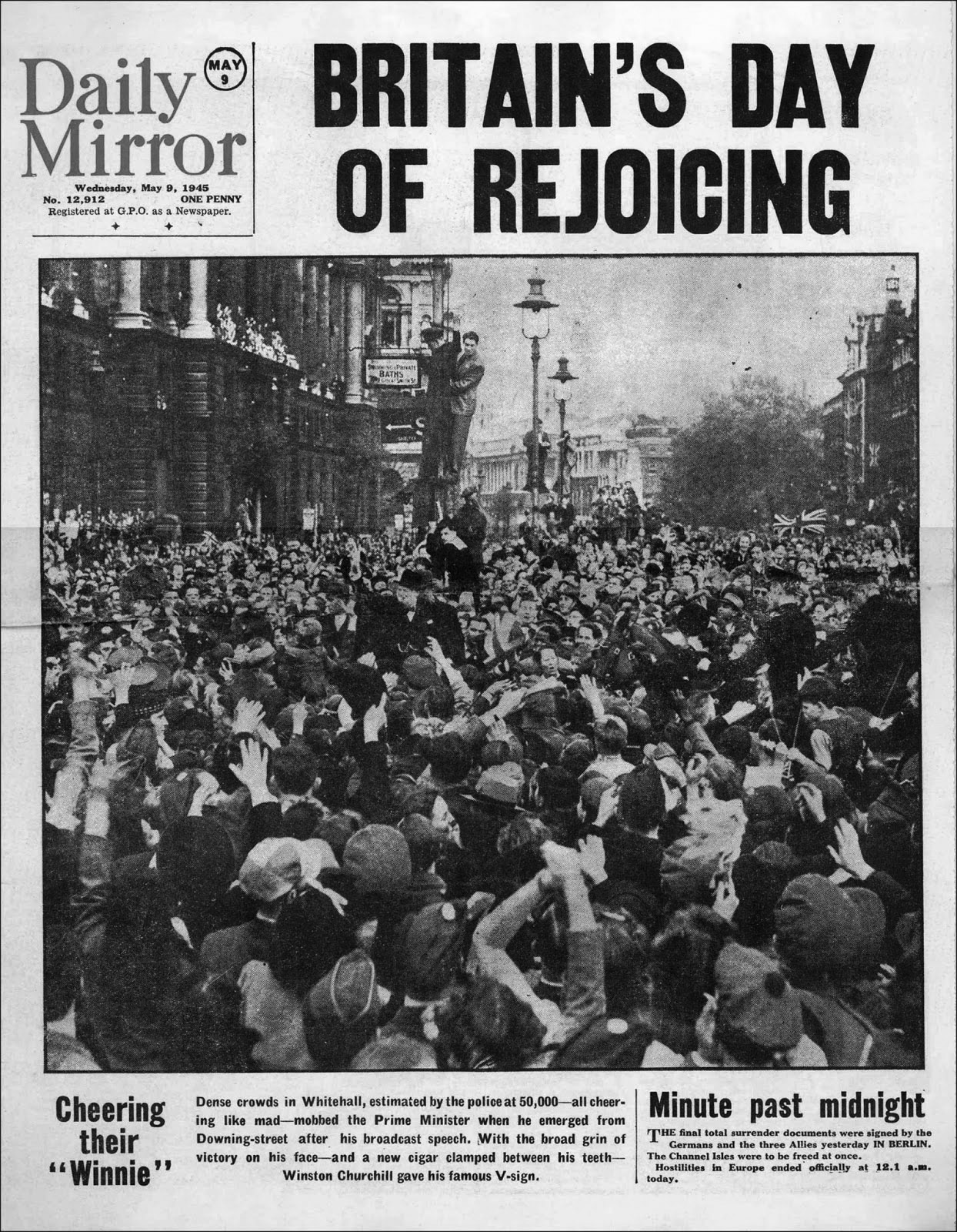 The Daily Mirror adopts its first condensed gothic, 1945.