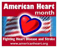 american heart month logo