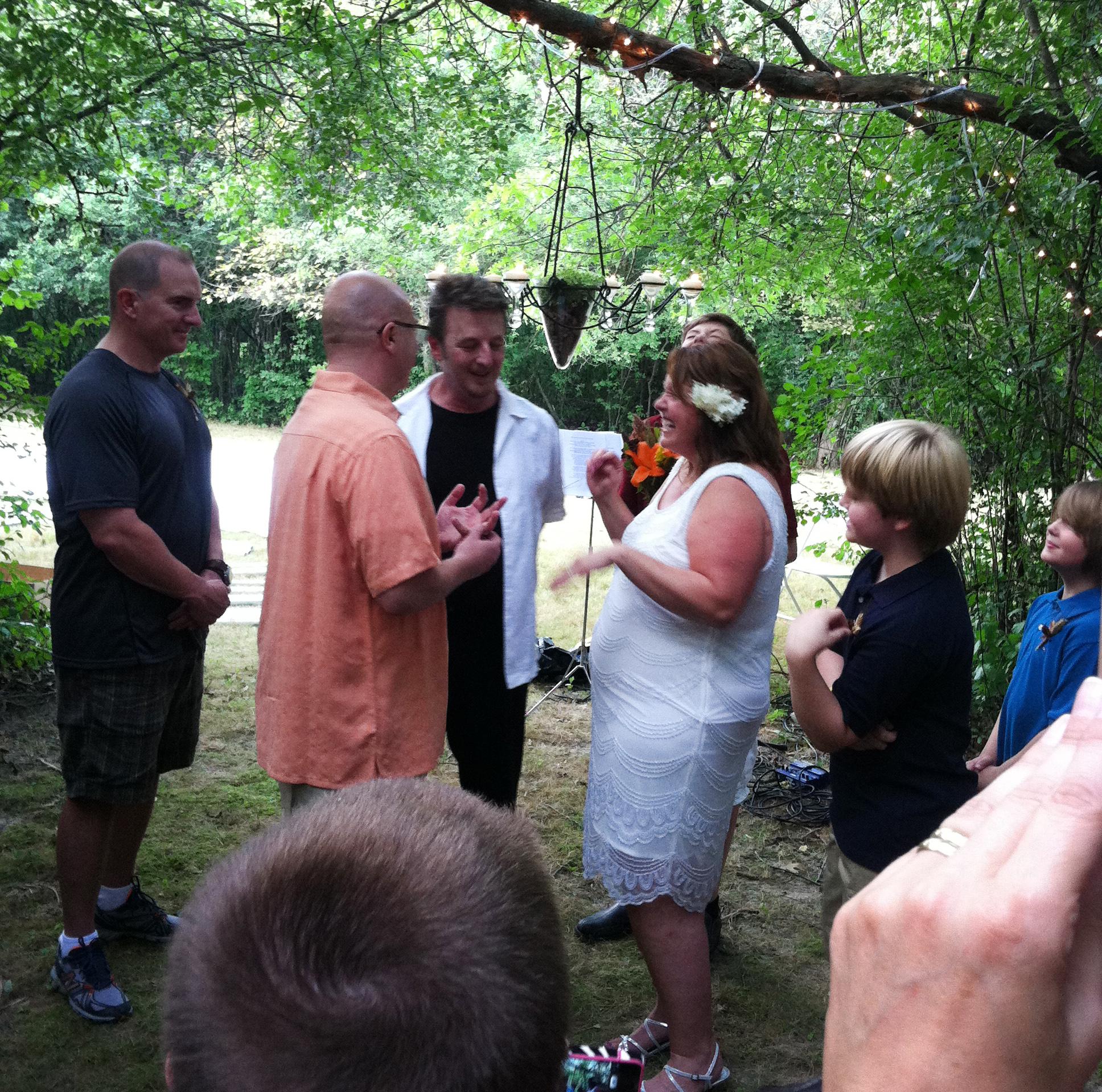 TJ's surprise wedding