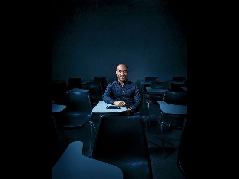 """""""You have students drowning in debt and scholarships that go unawarded. The system is broken,"""" says Christopher Gray. (Photo credit: Jonathan Barkat)"""
