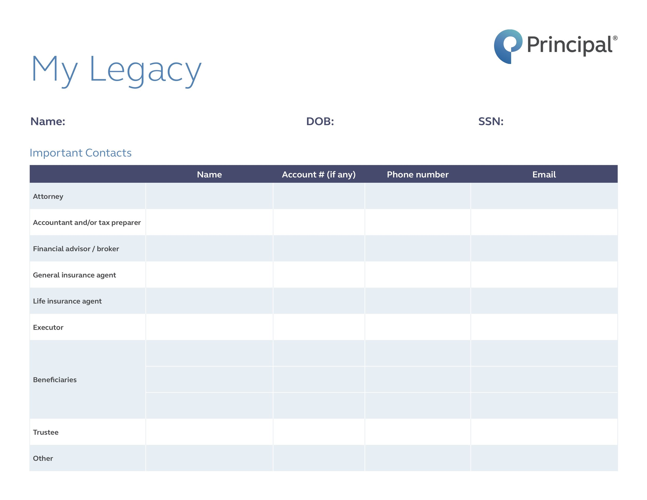 "Download ""My Legacy"" worksheet"