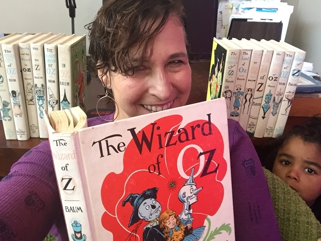 National Public Radio Arts Correspondent Mandalit Del Barco and daughter Amaya love the Oz series by Frank Baum.