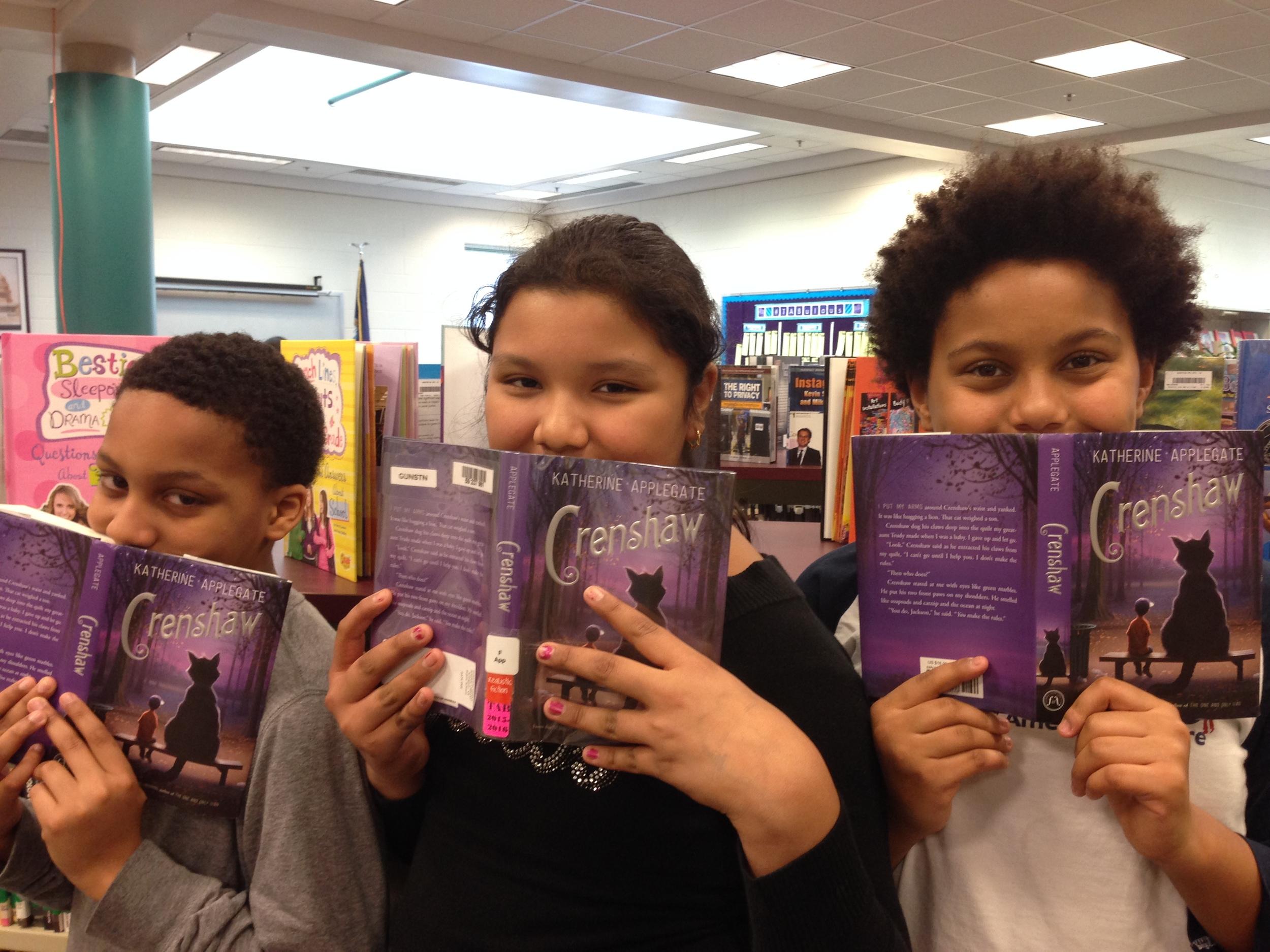 Gunston Middle schoolers Markel, Jhandira, and Amelia