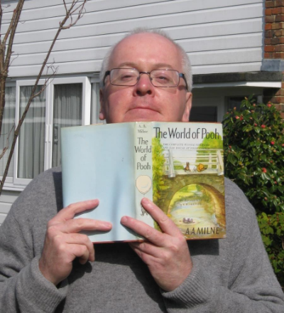 Writer Andy Mulligan and one of his favorite books