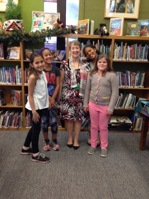 Readers from Sequoyah School join host Kitty Felde in Pasadena, California