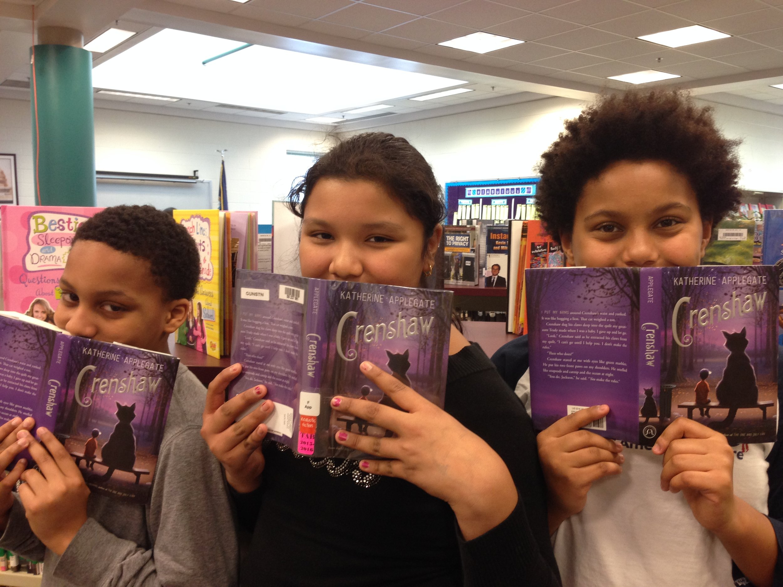 Readers from Gunston Middle School in Virginia.