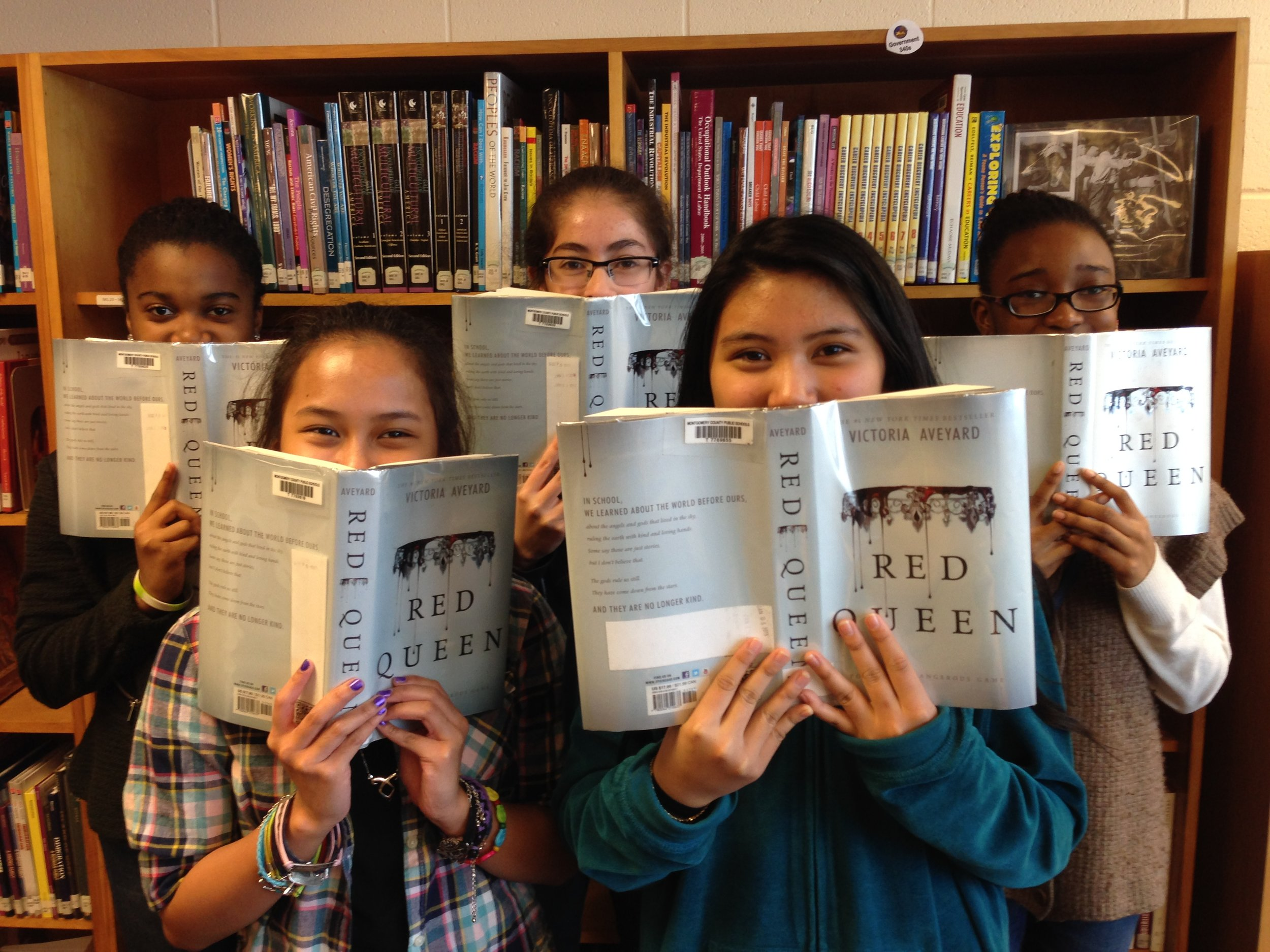 Readers from Newport Mill Middle School in Maryland