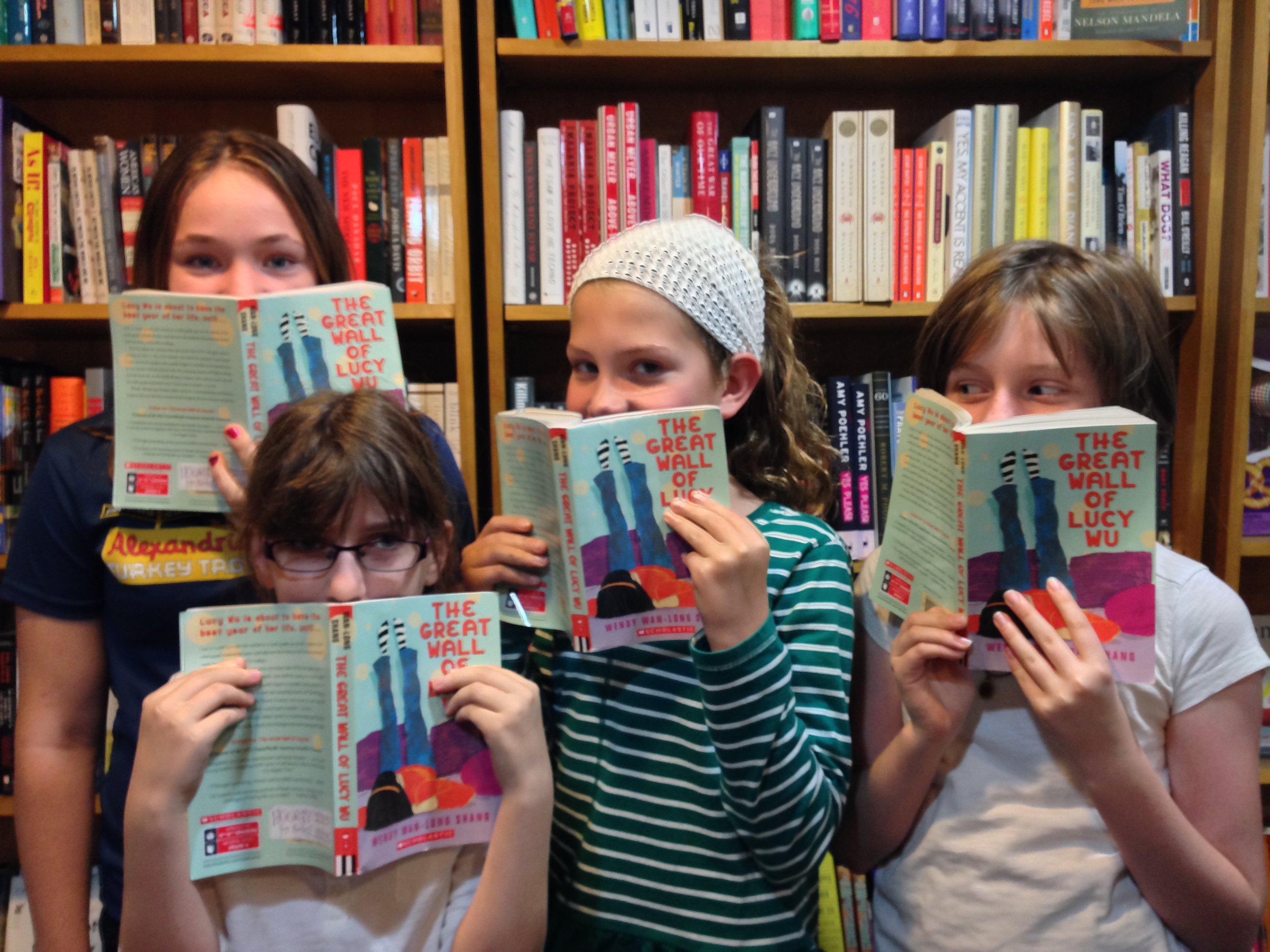"Readers discuss ""The Great Wall of Lucy Wu"" at Alexandria's Hooray for Books!"