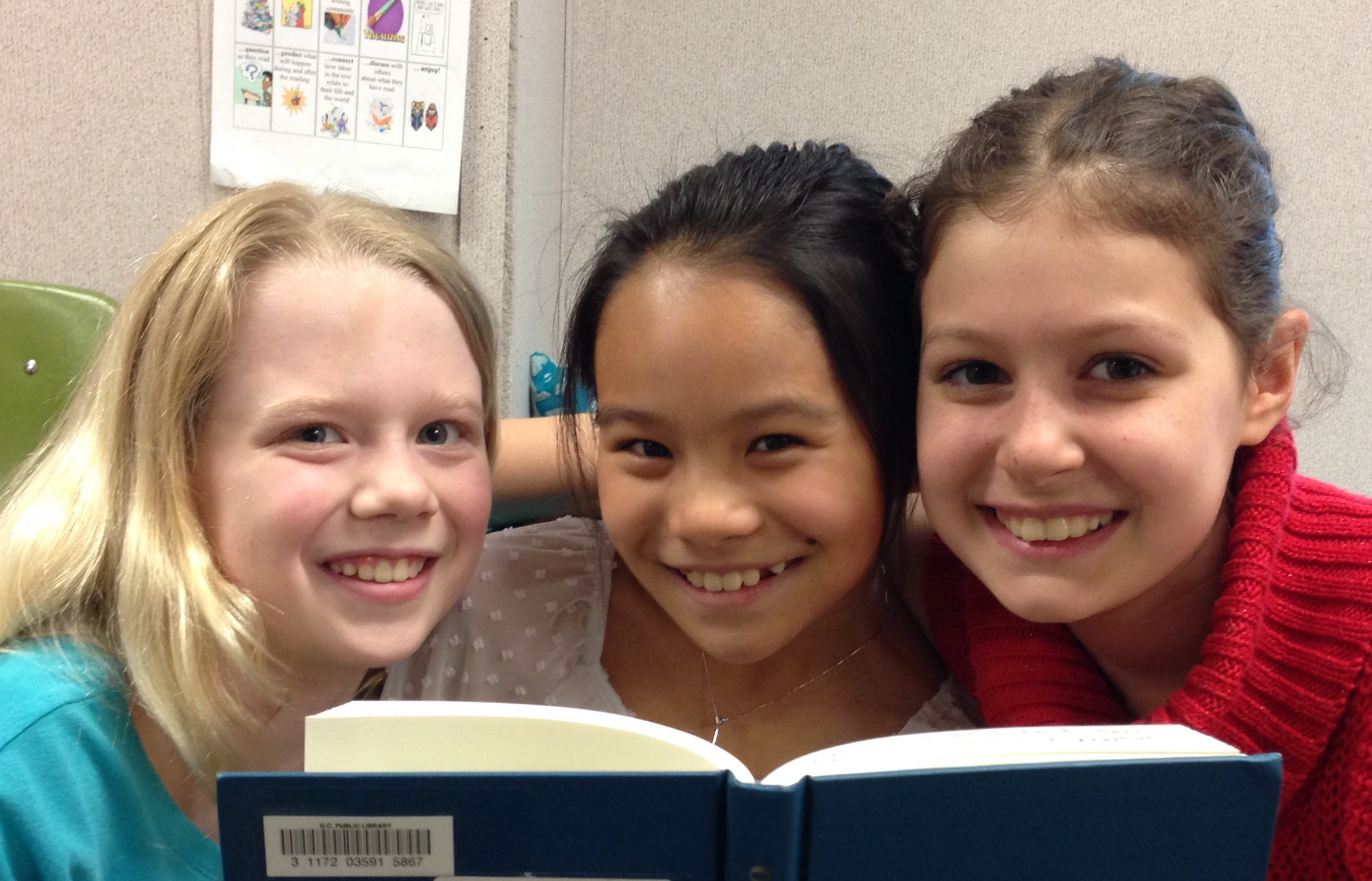 Ellie, Helena, and Leah from Lafayette Elementary School in Washington, DC