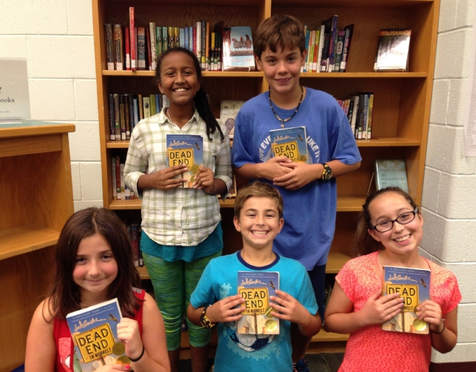 Our readers, 5th graders at Belvedere Elementary School in Virginia - L-R: Alice, Dibora, Daniel, Liam, Ava