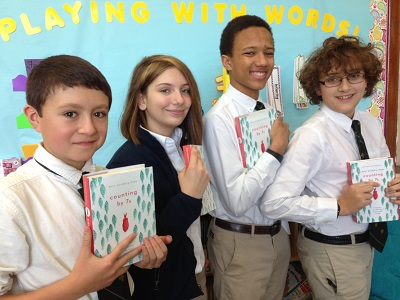 George, Carolyn, Xavier, and Christopher from Roanoke Catholic School in Roanoke, Virginia