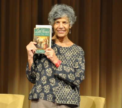 Celebrity reader NPR's  Susan Stamberg  shows off her favorite book - photo by TONYA WRIGHT of  WWW.MRSTRWRIGHTPHOTOGRAPHY.COM