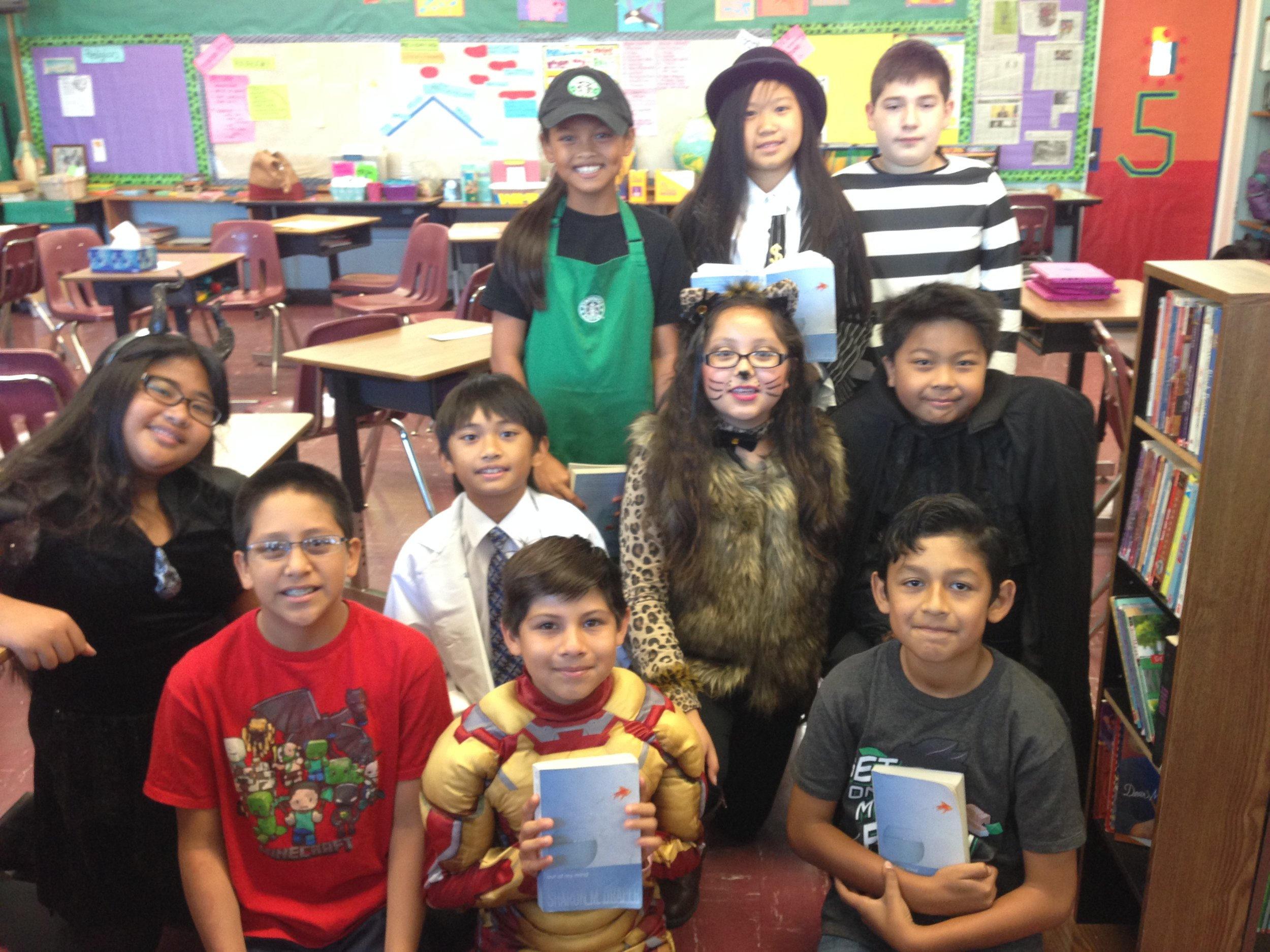 Fifth grade readers at St. Lucy Catholic School in Long Beach, California:: Grace, Giovanni, Vincent, Xavier, Alana, Zeus, Ethan, Eliyah, Samantha, and Zachary.
