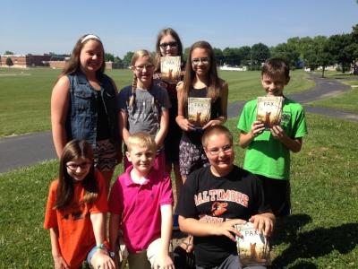 Mya, Annie, Alexee, Grace, Tyler, Lauren, Aidan, and Eli from Hanover Middle School in Pennsylvania