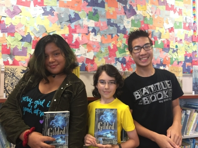 Mariana, Coryn, and Peter at the Richard Byrd Library in Springfield, Virginia