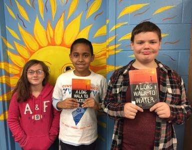 Desirae, Matthew, and Aidan from Pinchbeck Elementary School