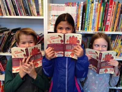 Jack, Carolina, and Eleanor at Watchung Booksellers in Montclair, New Jersey