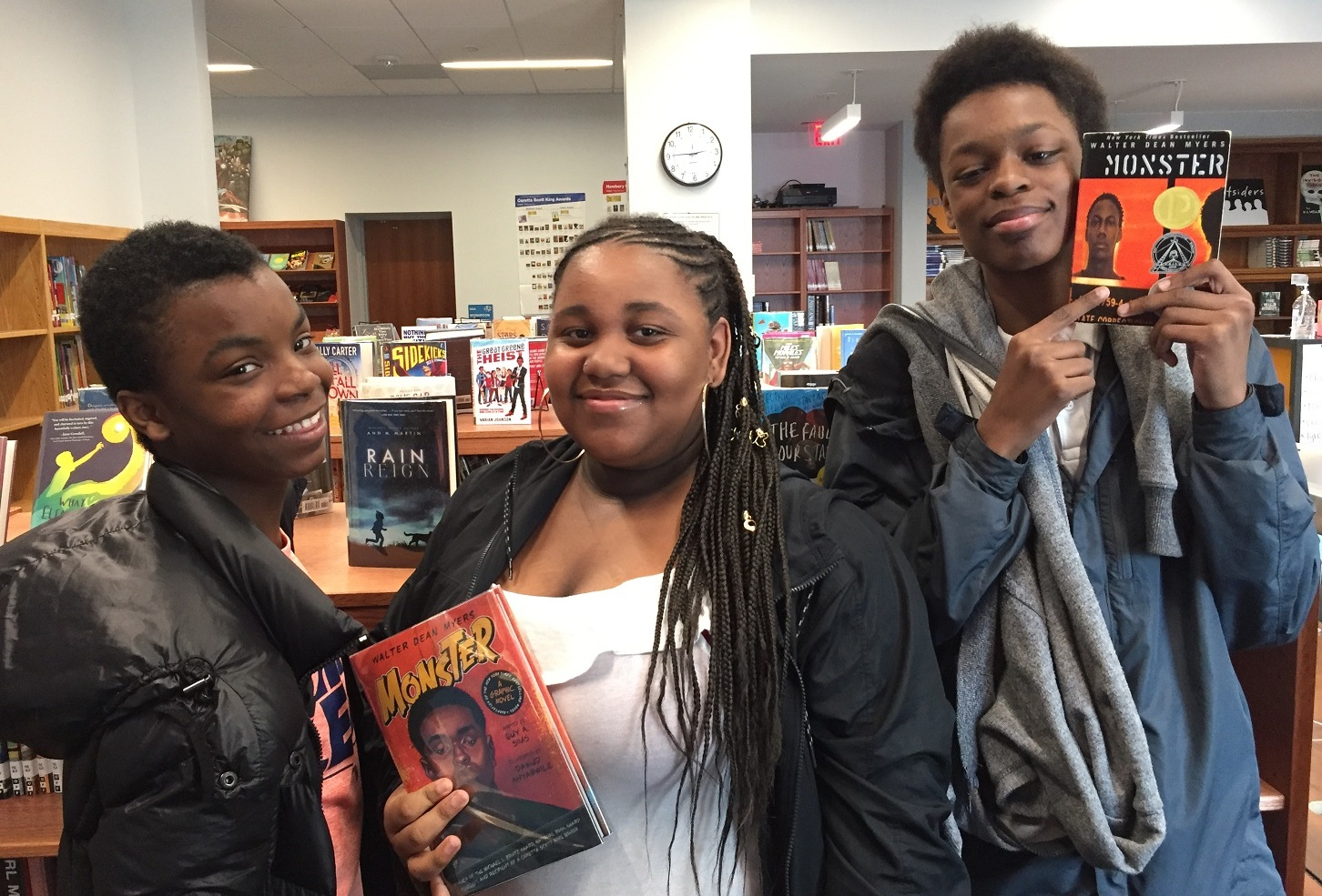 Zaekwon, Marjhay, and Maven from Kramer Middle School in Washington, DC