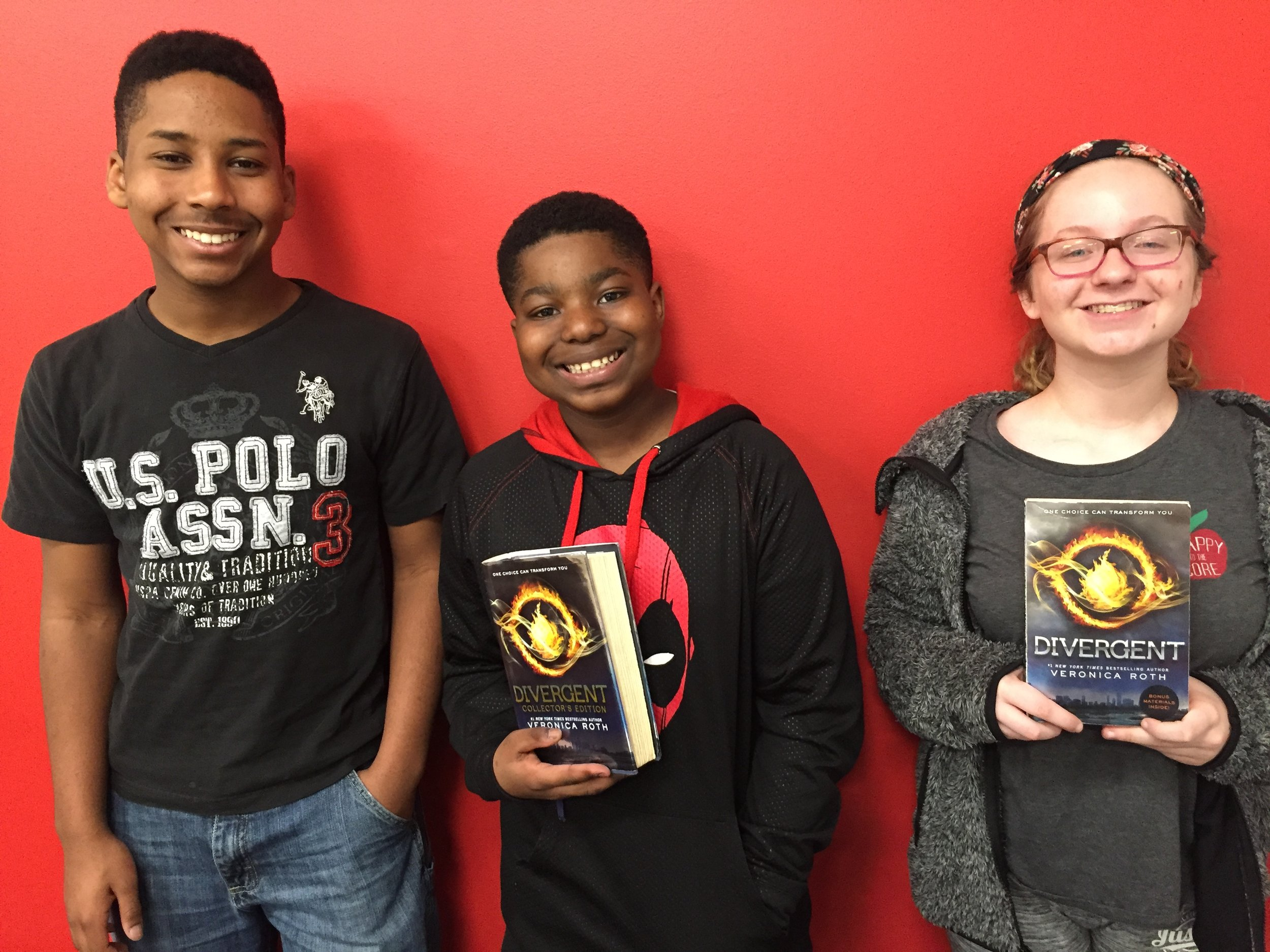 Titus, Elijah and Emily from  Benjamin Trasker Middle School  in Bowie, Maryland