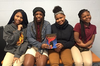 Quera, Jasmine, Myron, and London from  Kelly Miller Middle School  in Washington, DC