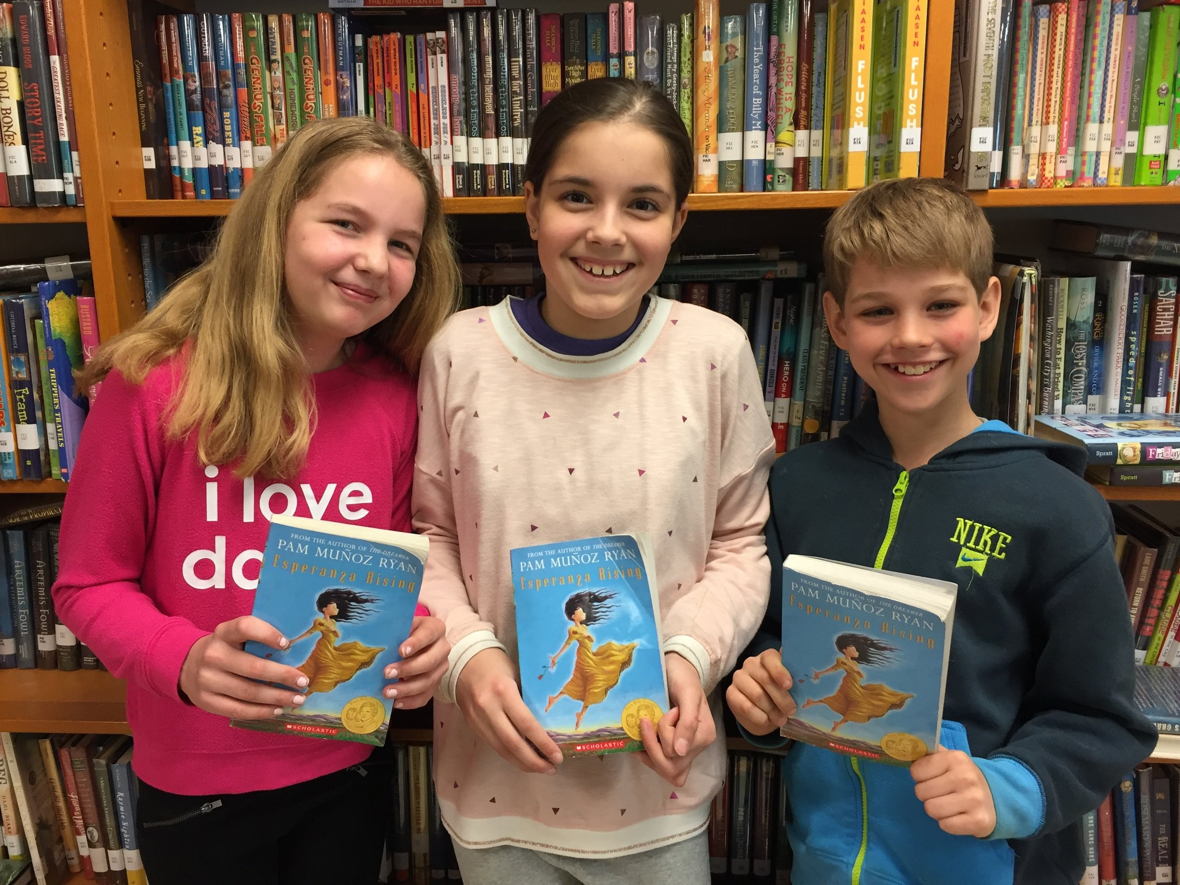 Ellie, Bea, and Tommy from Murch Elementary School in Washington, DC