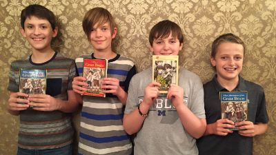 "Michael, Seth, Alex, and Kyle are members of ""The Great Brain Book Club"""