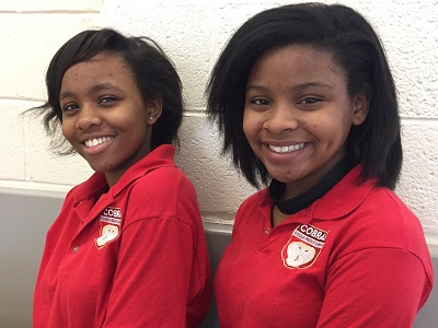 Dezirae and Xicara are students at Sousa Middle School in Washington, DC