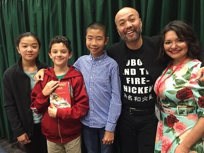 Luna,  Mateo , Dante, writer  Henry Lien  and celebrity reader  Veronica Lopez