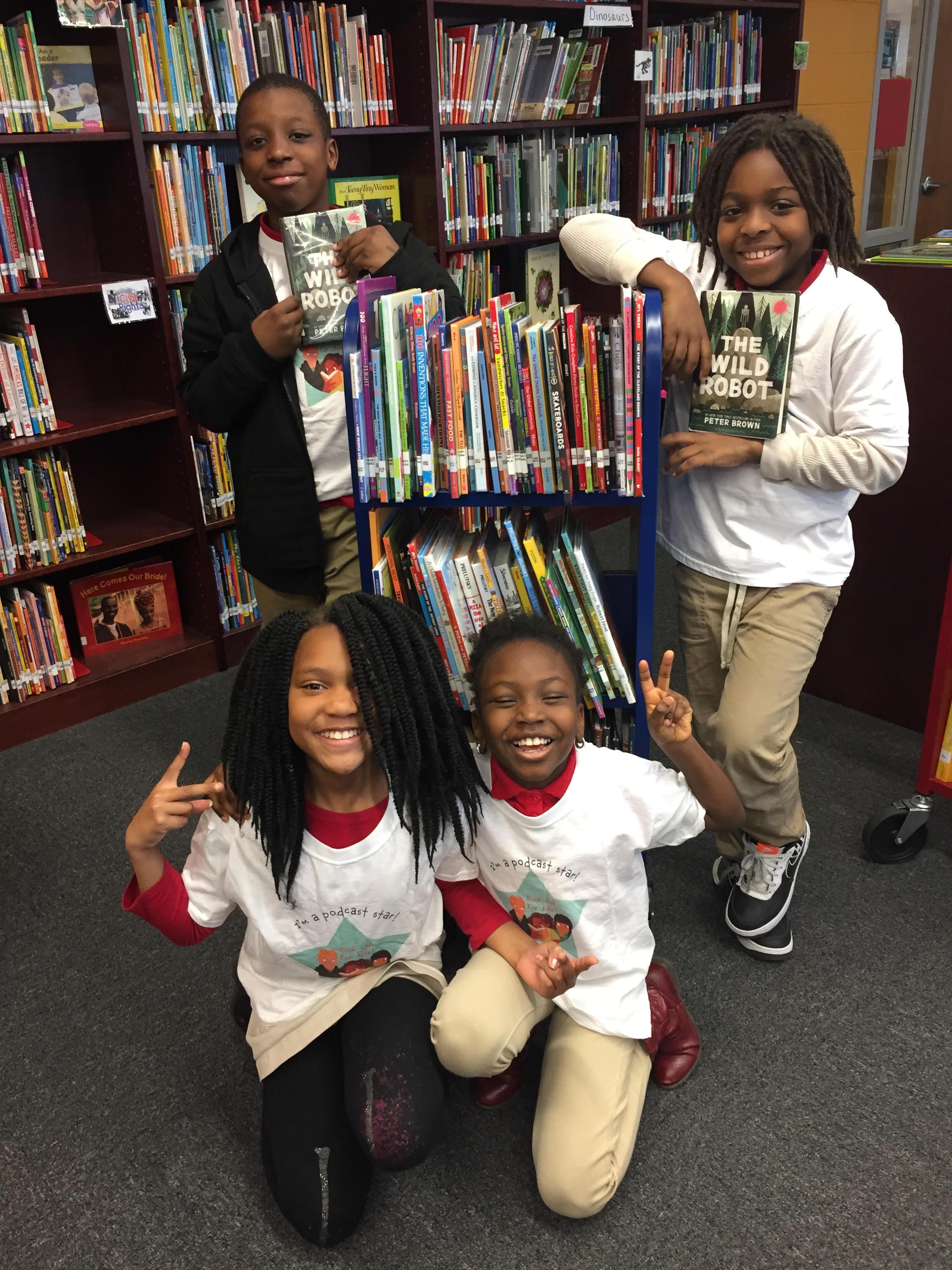 Jamar, Donald, Zyanna, and Morayooluwa attend Flora Hendley Elementary School in Washington, DC