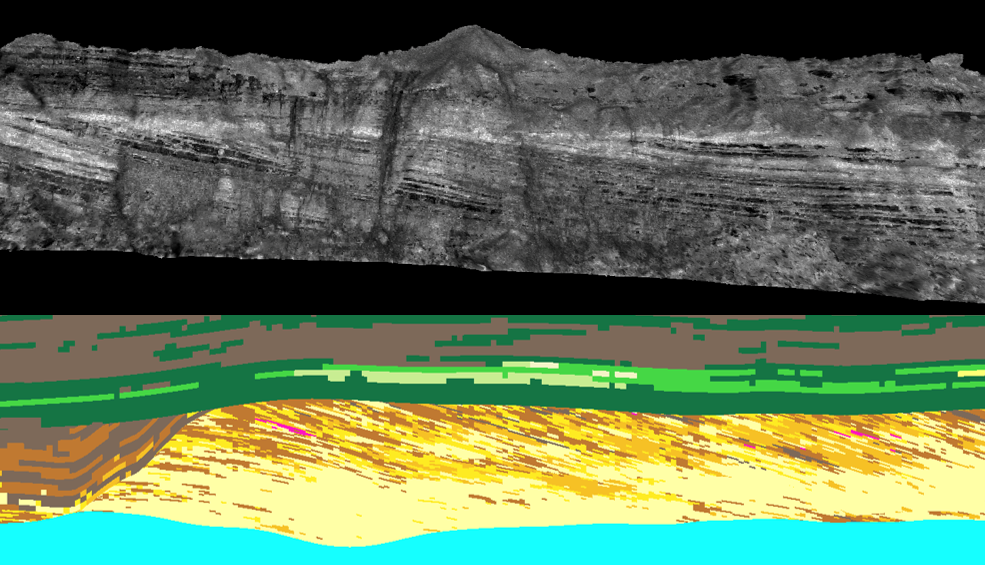 McMurray outcrop vs realistic model from Findlay et al. 2014