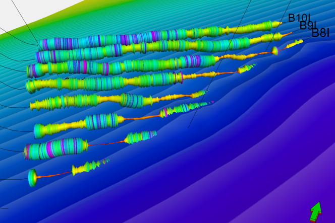 Figure11Dip surface build by combining dipmeter and horizontal well data. From Findlay et al. 2014