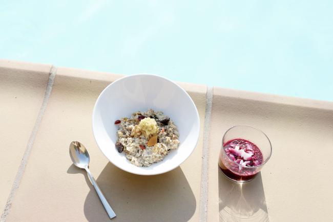 poolside food retreat