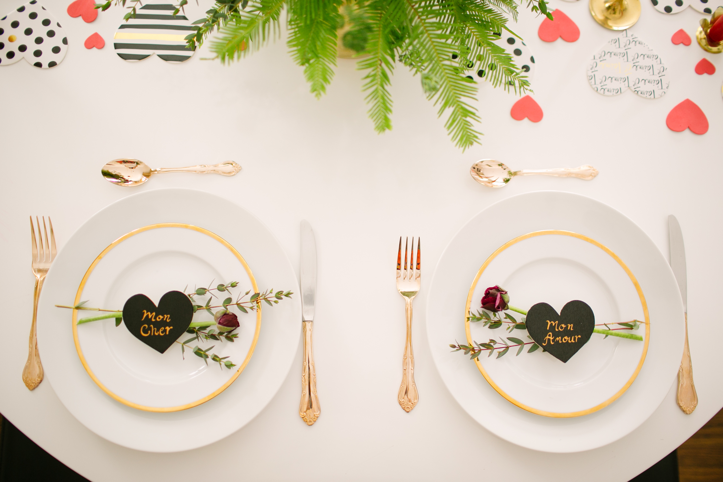 valentine's day placesetting