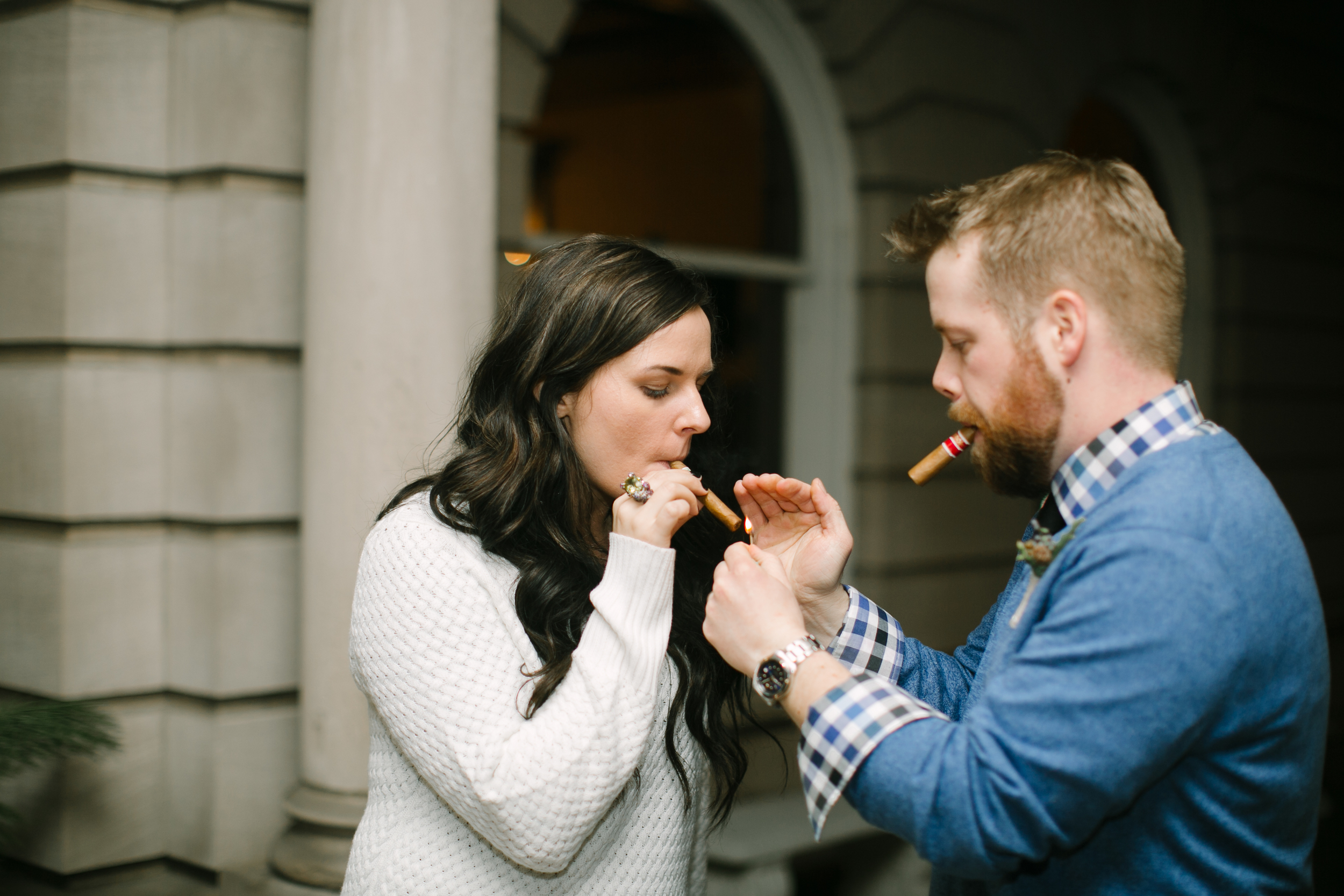 A non-traditional northwoods cabin themed wedding with a cigar bar |  Belle Noelle Events + Design
