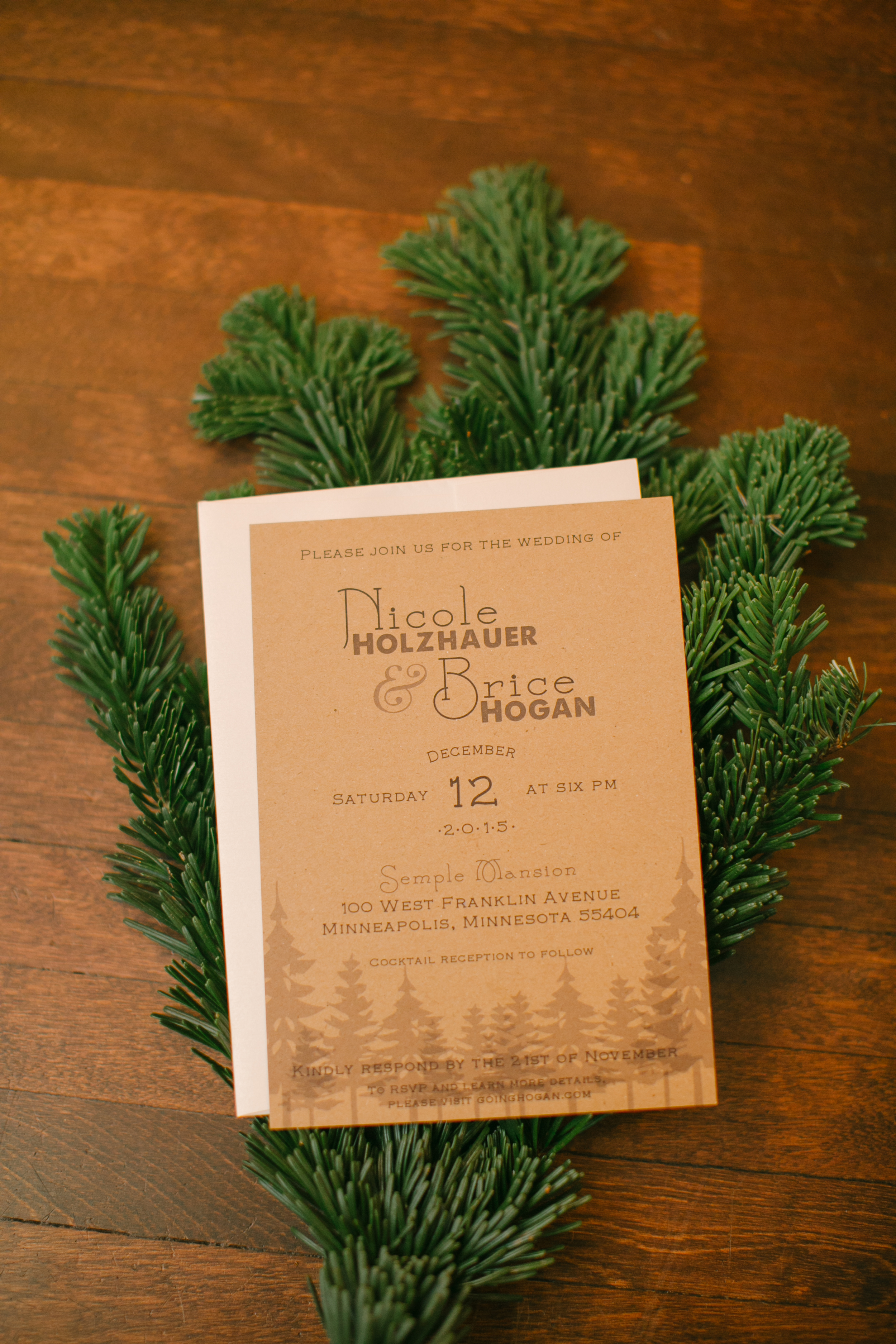 An unconventional woodlands wedding in Minnesota winter at Semple Mansion in Minneapolis | Belle Noelle Events + Design