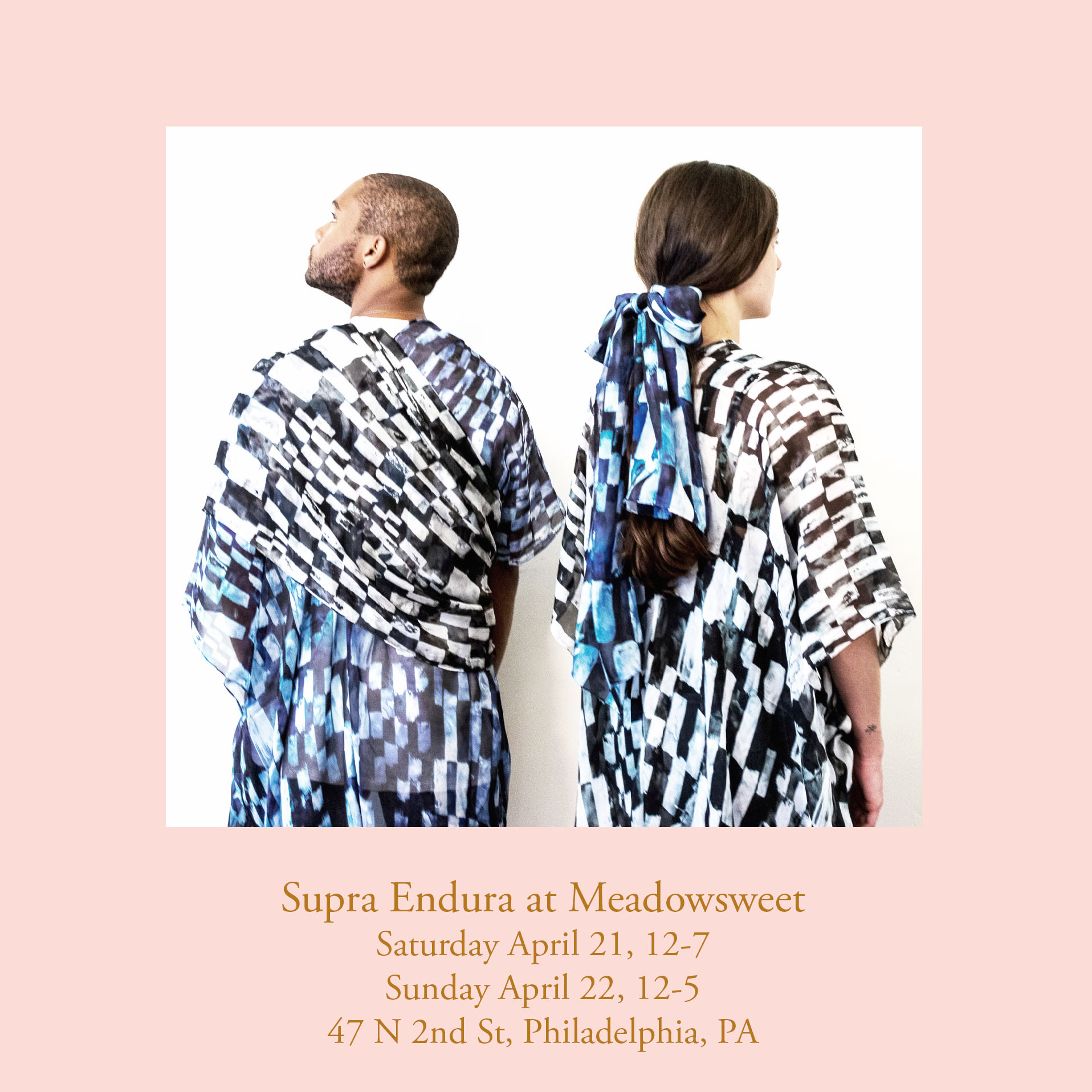 Instructor Gabby Mandel is popping up with her most recent collection of  Supra Endura  pieces at  Meadowsweet Mercantile . Shop for spring while supporting our local design community!    April 21-22 12-7pm