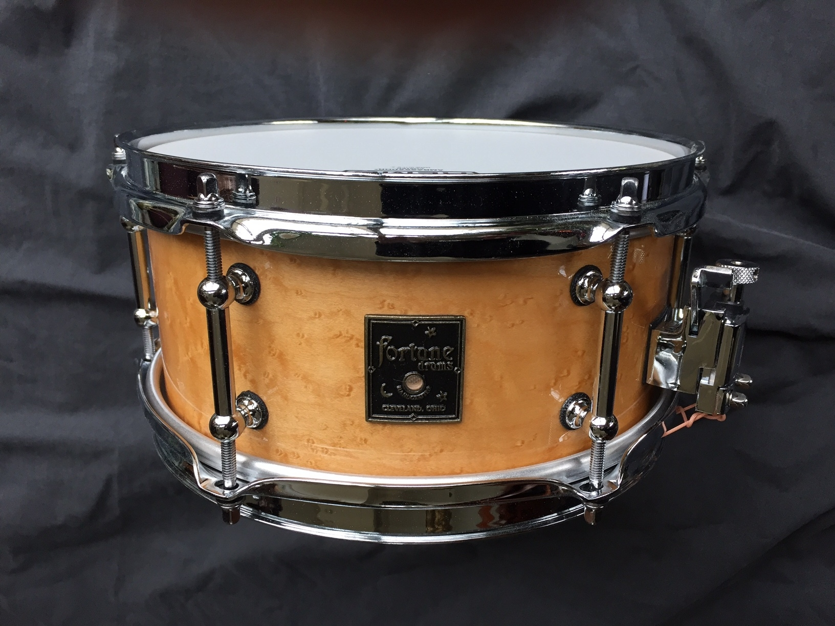4.75 x 10 birdseye maple snare drum