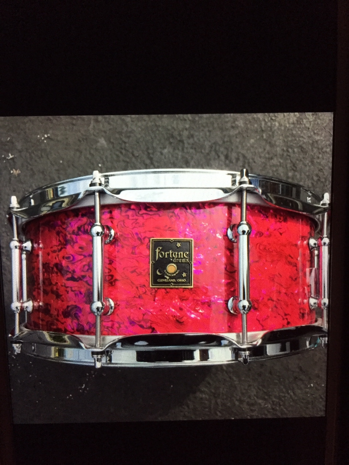 "5.75 x 14"" Pink Paua shell"