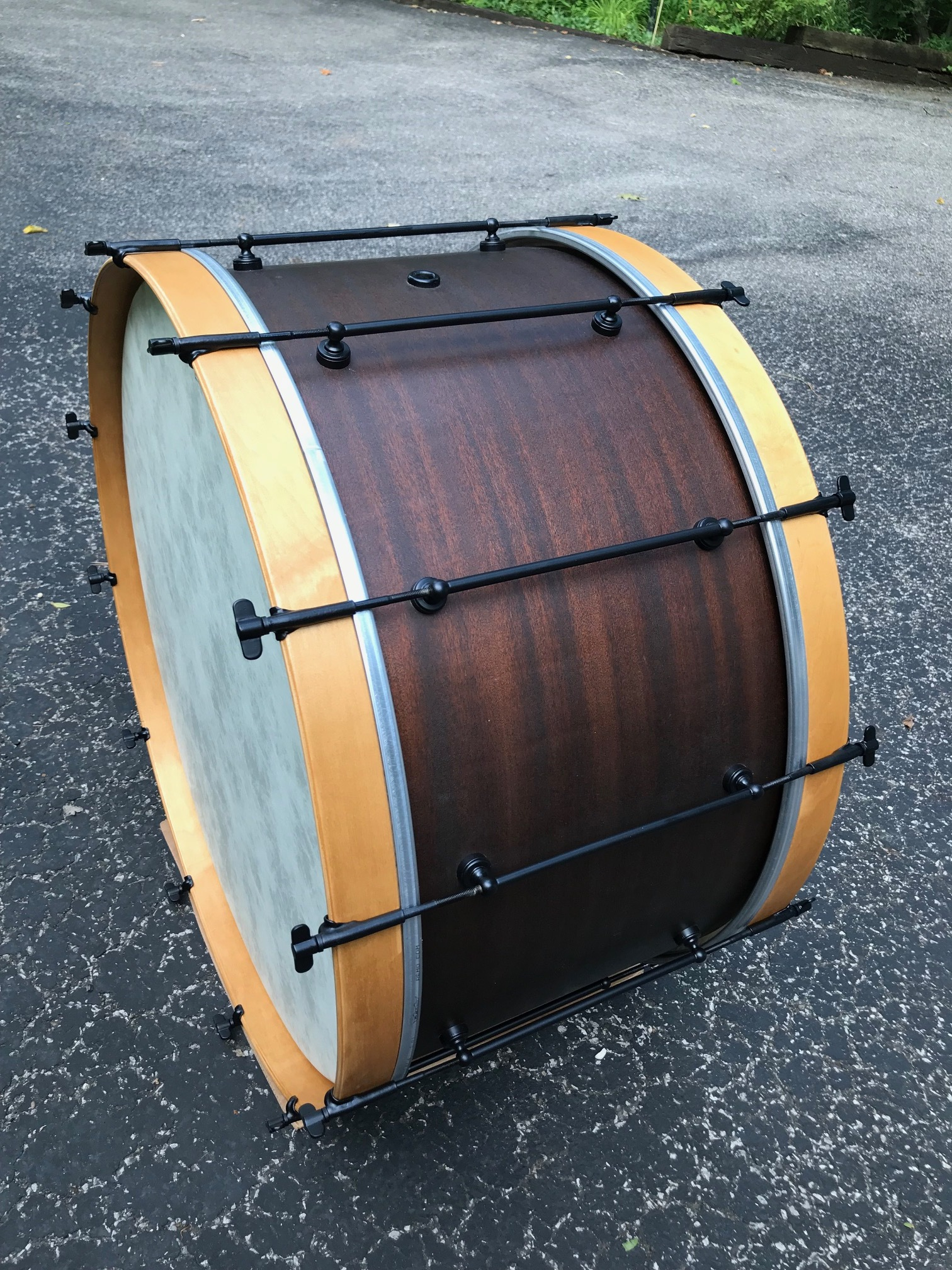 "Wilson Brothers 1920s 28"" Bass Drum: final restore"