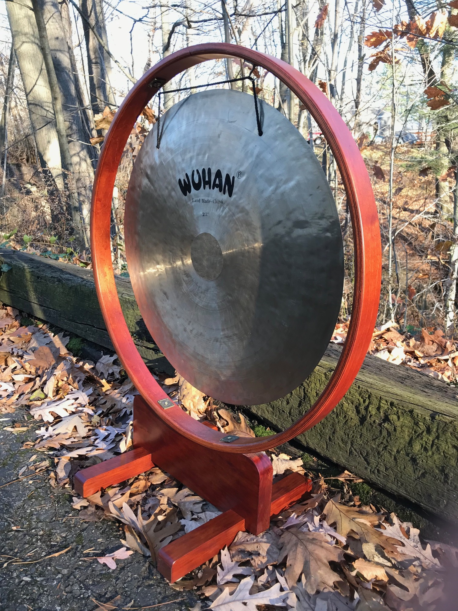 Cherry / Maple  Gong Stand