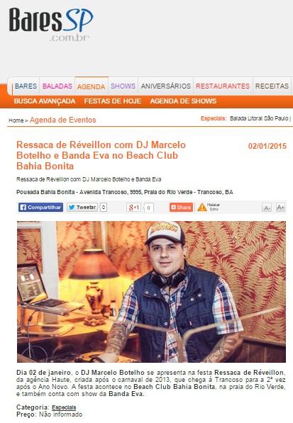 BARES SP - RESSACA DE RÉVEILLON COM DJ MARCELO BOTELHO E BANDA EVA NO BEACH CLUB BAHIA BONITA - 06.01.jpg