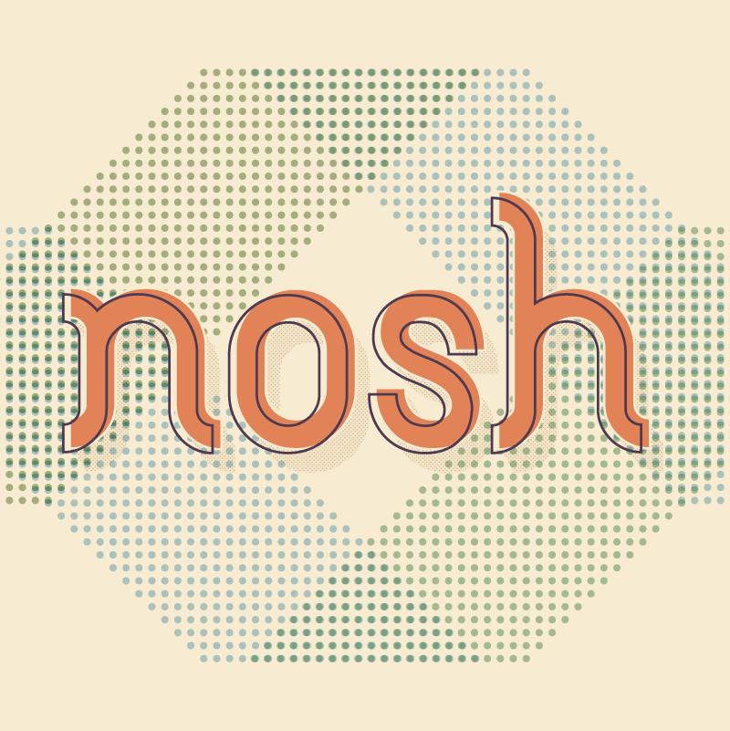 Nosh Truth - menus, posters, promotional materials