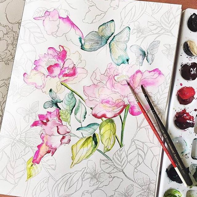There are still spots for tomorrow evenings intermediate watercolor class!! This is our last create club of the year 😭😭😭 so make sure you snag a spot while you still can! Link in bio 👉
