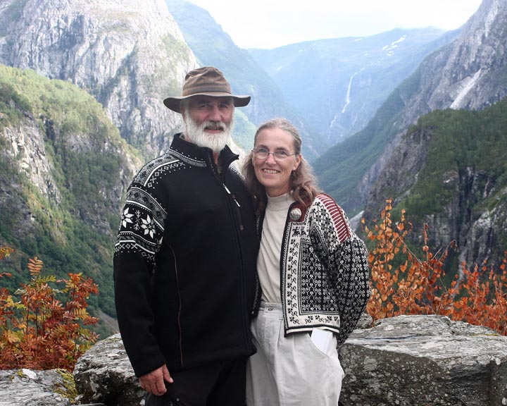 Phil and Else at Stalheim, Norway