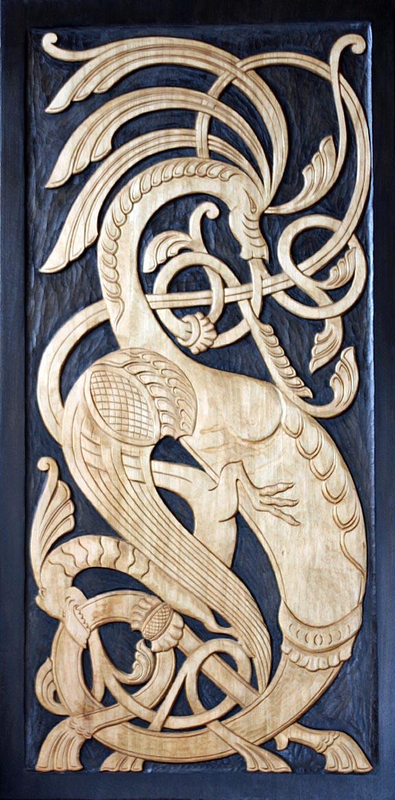 Relief carving u norsk wood works ltd