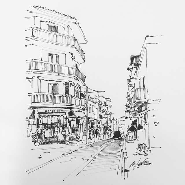 Porto Cristo #portocristo #urbansketching #ink #editorialillustration #illustration #drawing #mallorca #blackandwhite #architecture #vacation