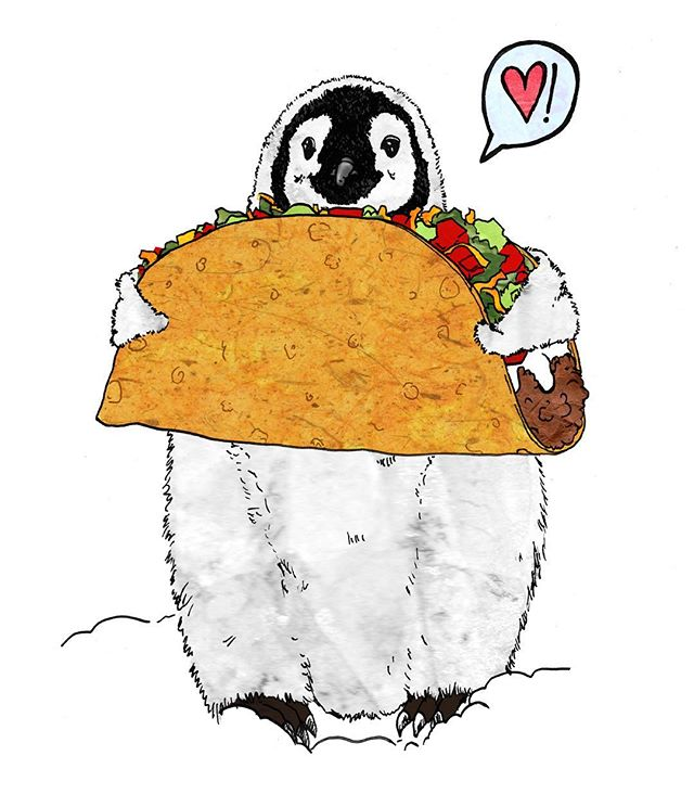 When International Penguin Day falls on Taco Tuesday . . . . . . #illustration #illustratorsofinstagram #sketchbook #penandink #sketchbook #femaleillustrator #womenwhodraw #doodle #collage #mixedmedia #lifestyleillustration #feature_my_stuff #art4small #sendyourbestart #art4share #drawingaday #art #painting #drwingoftheday #paintingoftheday #artoftheday #newyork #artist_features #artnerd2017 #illustration_daily #artistic_discover #tacotuesday #nationalpenguinday #penguins #taco #love