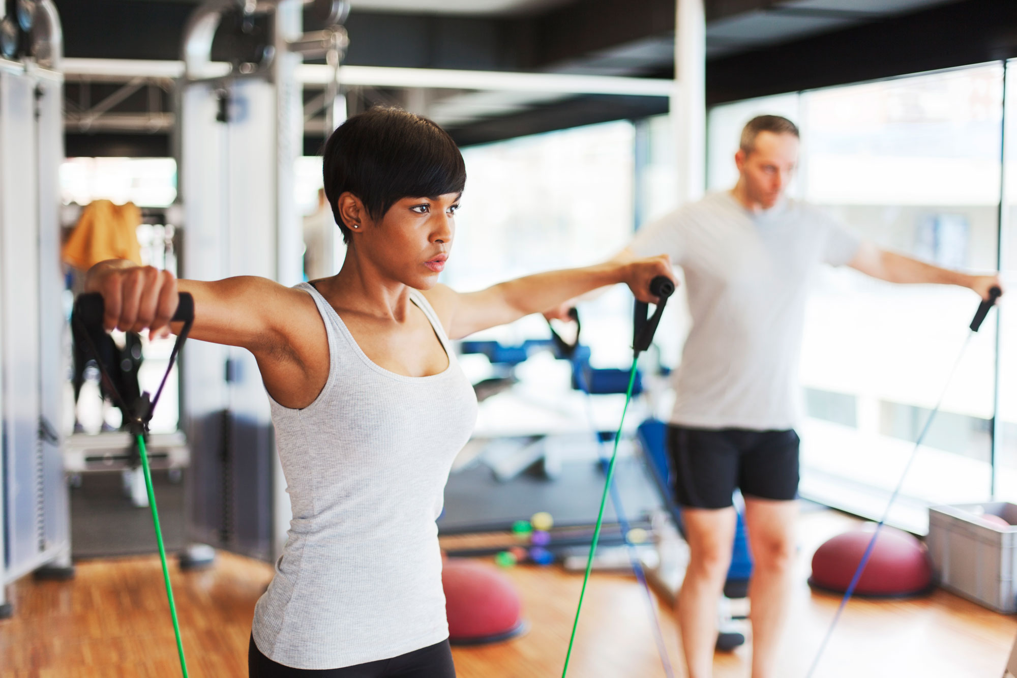 Exercising with fitness bands