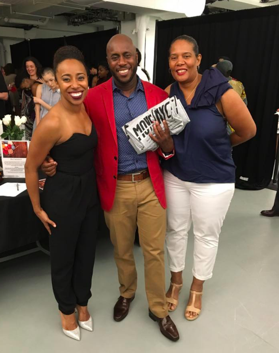 Co-Founder of MOVE(NYC) Chanel DaSilva with BDP founder Jamal's parents